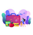 kids lunch box concept vector image