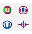 Letter U Logo alphabet design element vector image vector image