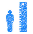man height grunge icon vector image