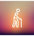Man with Cane thin line icon vector image