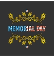 Memorial day sign vector image vector image