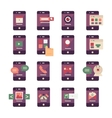 Mobile Application Icons vector image vector image