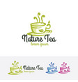nature tea logo vector image vector image