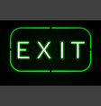 neon banner on text exit background vector image vector image