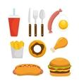 Organic food menu icons