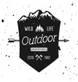 outdoor adventure vintage badge emblem vector image vector image