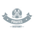 pirate saber logo simple gray style vector image