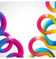 Rainbow curls vector image vector image