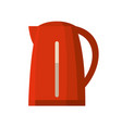 red kettle isolated vector image