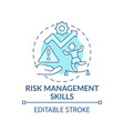 risk management skills blue concept icon vector image vector image