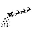 santa claus on sleigh full of gifts and reindeer vector image