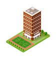 school isometric building study education vector image