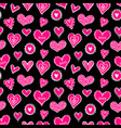 seamless hearts pattern-14 vector image vector image