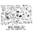 set data doodle hand drawn sketch line vector image vector image