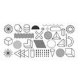 set geometric shapes memphis design elements vector image vector image