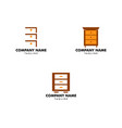 set of cabinet logo icon design template vector image vector image
