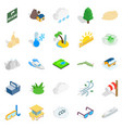 sunlight icons set isometric style vector image vector image