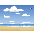 sunny beach vector image vector image