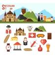 Switzerland symbols set vector image vector image