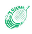 tennis game ball and racket vector image vector image