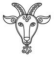 tenth zodiac capricorn sign horned goat symbol vector image