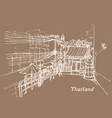 thailand in sketch style hand drawing vector image vector image