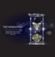 time management geometric polygonal art vector image vector image