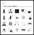 Travel Element Line Icon Set 8Camping thin icons vector image