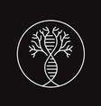trees neuron dna line art logo design badge vector image