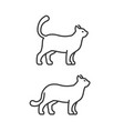 walking cat icons on white background line style vector image vector image