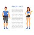 weight loss people change vector image