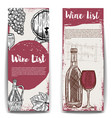 wine list banner templates design elements vector image