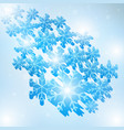 winter blue sky with falling snow vector image
