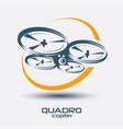 drone icon quadrocopter stylized symbol vector image
