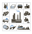 Heavy industry icons vector image