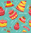 cake seamless pattern vector image