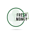 fresh money green color art vector image