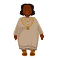 african plump woman in dress and jewelry isolated vector image vector image