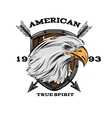 American True Spirit Emblem vector image vector image