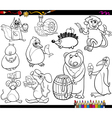 animals and food coloring page vector image vector image