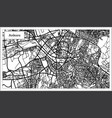 ankara turkey map in black and white color vector image vector image