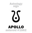 astrology asteroid apollo vector image vector image