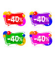 banner 40 off with share discount percentage vector image vector image
