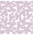 beutiful flower with leaves background design vector image vector image
