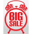 Big sale alarm clock vector image vector image