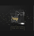 black friday sale cardboard box tied with a black vector image vector image