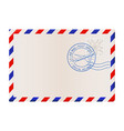 blank envelope with air mail postmark vector image