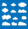 blue cloud set icons isolated on background moder vector image vector image