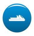 boat icon blue vector image