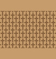 brown cross on brown background vector image